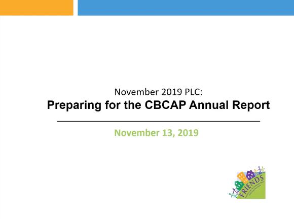 CBCAP Annual Report cover