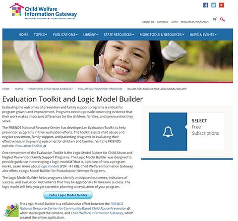 Logic Model Builder Screenshot
